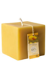 100% BEESWAX CUBE CANDLE (size: 7 x 7 x 7 cms)