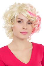 Perruque bouclée blonde rose coquines court gfw961-613tf2315