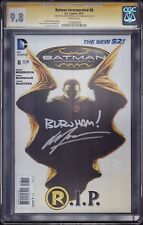 BATMAN INCORPORATED #8 CGC SS 9.8 * SIGNED MORRISON & BURNHAM * DEATH DAMIAN