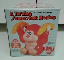 RARE VINTAGE Battery Operated ACROBATIC TUMBLING  Somersault MONKEY