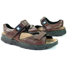 Mephisto Shark Fit Air Relax Brown Leather Sandals Double Strap Mens Size 13