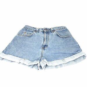 Levi's Women's Levi's 954 Denim Jean Shorts High Waist Factory Cuff USA Size 9