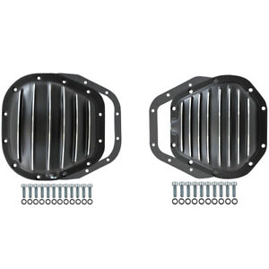Ford Super Duty F-250 F-350 Excursion 4x4 Black Aluminum Differential Cover Kit