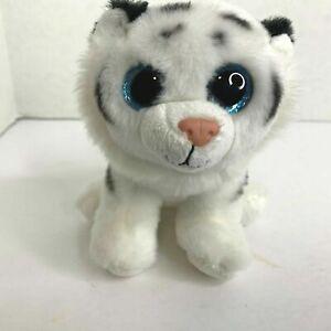 Ty Beanie Boos Glitter Eyes Tundra White Tiger Cub 5 in Plush Stuffed Animal Toy