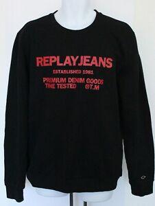 Replay Time Test Mens Sweatshirt, Mens Top, UK Size XL