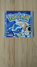 Etiquette/sticker remplacement Game Boy - Pokemon Bleu