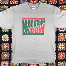 Vtg Mountain Dew Logo Graphic T-Shirt, Large