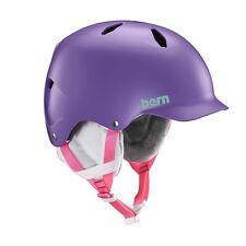 Bern Juniors Bandito Crank Fit Snow Helmet Satin Purple Medium Large
