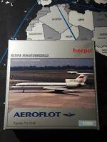 Herpa Miniaturmodelle. AEROFLOT Tupolev TU-154B. 1/500. CCCP-85217