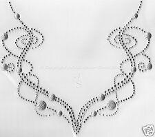 Hotfix Strass Bügelbild  Kette für den Ausschnitt Crystal-Silber 121104