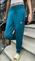 Women's Champion Reverse Weave Jogger Pant Turquoise Size Medium NWT