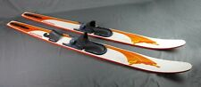 """Rare Vintage 1970's Western Glass Cat Wooden Water Skis 66"""" Long"""