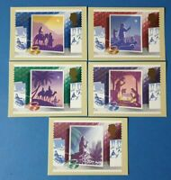 Set of 5 PHQ Stamp Postcards Set No.114 Christmas 1988 CL5