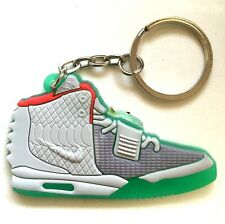 AIR YEEZY 2 SP NRG WOLF GREY PURE PLATINUM SNEAKERS SHOES KEY CHAIN RING HOLDER