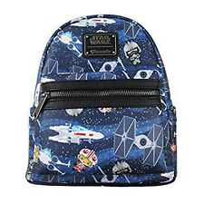 Loungefly Star Wars Chibi Ships Print Mini Backpack NEW Bag School