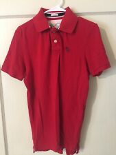 Mens Vintage Abercrombie & Fitch A&F Muscle Red Golf Polo Shirt Size L Large