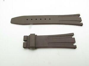 Audemars Piguet Royal Oak Ladies BROWN RUBBER NEW STRAP 100% Factory 22mm/16mm