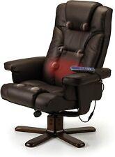 Massage Chair Heat Massage Recliner and Footstool, Black