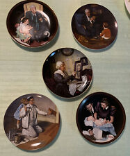 Norman Rockwell Set Of 5 Plates From 80's