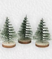 3x Christmas Tree Mini Cedar Ornaments Party Dolls House  Miniature Dec TK WH