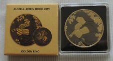 Austria 2019 Robin Hood Golden Ring 1 oz Silver Coin Gold  Ruthenium Silbermünze