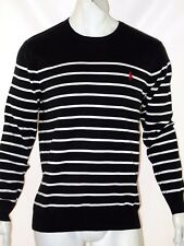 Polo Ralph Lauren striped pima lightweight sweater size xs black white striped
