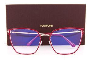 Brand New Tom Ford Eyeglass Frames 5574-B/V 069 Red/Gold For  Women Size 55mm