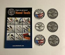 Klein Tools -Hand Tools Proper Use Guide+6 Vinyl Decal Logo Stickers (Brand New)