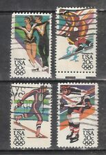 14th WINTER OLYMPIC GAMES #2067-2070 Used US 1984 Commemorative 20c Stamp Set