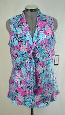 New NINE WEST Women's Sleeveless Lollipop Multi Color Light Blouse Size LG $59
