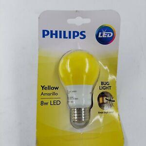 Philips 60 Watt Equivalent Yellow A19 Medium Base LED 8 Watt Equivalent Light