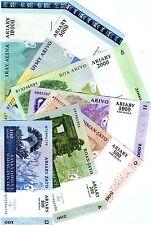 Complete SET Madagascar, 100;200;500;1000;2000;5000;10000 Ariary, UNC