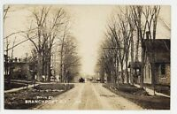 RPPC Main Street View BRANCHPORT NY Keuka Lake Yates County Real Photo Postcard