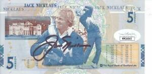 JACK NICKLAUS Signed New 5 Pound Note a 10 Autograph JSA MM24045