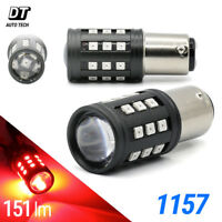 2X BAY15D 1157 High Power Red LED Rear Brake Stop Tail Lamp Light Bulbs Pair