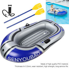 Inflatable Boat Raft Kayak Pvc Canoe Dinghy with Inflator Pump for Fishing New