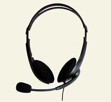 Stereo-Headset mit Kondensatormikrofon und sehr guter Soundqualität, 2 m Kabel