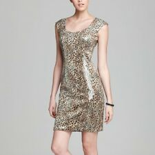 *NEW* Sue Wong $416 Leopard Print Sequin Cocktail Formal Dress. 6 NWT
