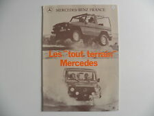 Catalogue / brochure MERCEDES - BENZ les Tout terrain MERCEDES