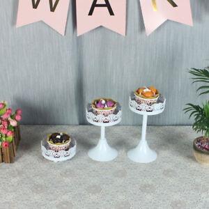 Cake Stand Wedding Dessert Decoration Metal Lace Edge Flowerpot Holder Glass