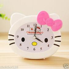 Hello Kitty Face Pink Bow Desk Table Alarm Clock HeadShape KK356