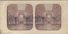 Versailles Galerie des Batailles Stéréo vintage albumine ca 1860