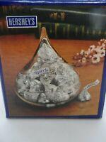 "Vintage Hershey's Kiss Glass Candy Dish 1990 MIB 4 3/8"" x 4.5"" 8.5oz made USA"