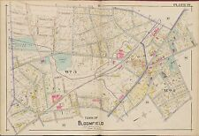 1906 BLOOMFIELD ESSEX COUNTY NEW JERSEY, WATSESSING SCHOOL & PARK COPY ATLAS MAP