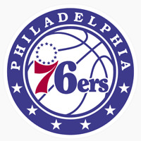 Philadelphia 76ers Primary Logo NBA DieCut Vinyl Decal Sticker Buy 1 Get 2 FREE