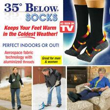 35 BELOW Aluminized Thermo Fiber Socks 2 Pairs Black Unisex As Seen On TV-USA