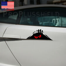1pc Red Eyes Monster Peeper Scary Funny Car Bumper Window Vinyl Decal Sticker