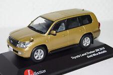 Toyota Land Cruiser 200 2010 oro met. RHD 1:43 J-Collection nuevo + embalaje orig. jc242.13