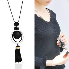 New Women Girl Jewelry Bib Circle Korea Velvet Pendant Sweater Necklace