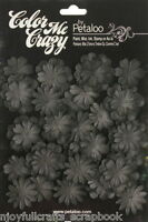 BLACK CMC Chalkboard 28 Mini Delphiniums 20-30mm 2sizes Paper Flower Petaloo F